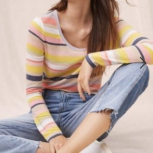 Lou & Grey Colorful Striped Long Sleeve Tee